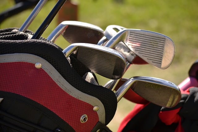 Bon Close Up Picture Of Golf Clubs In A Golf Bag